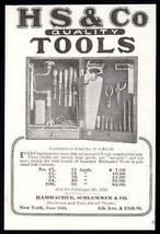 Tool Cabinet Advert 1908 Hammacher Schlemmer Tools Cabinet Photo AD - $14.99