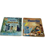 Walt Disney Storytellers Read Along Books Only Pinocchio The Jungle Book Stories - $14.99