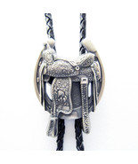 New Vintage Silver Plated Horse Saddle Boots Western Bolo Tie also Stock... - $12.13