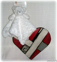 Blankets and Beyond Security Blanket White Bear Shaggy Baby Lovey Nunu New - $24.74