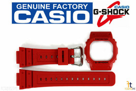CASIO G-Shock DW-5600P-4 Original Red Watch BAND & BEZEL Combo - $78.45