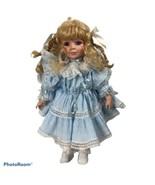 Vintage Victorian Style Blond Hard Plastic Doll - $24.75