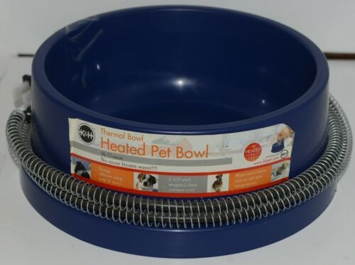 KH Pet Products 2010 Thermal Heated Pet Bowl 96 Ounce Corded