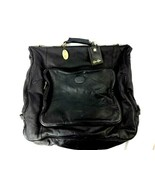 Claire Chase Classic Garment Black Soft Leather Travel Suite Bag Cafe 216-2 - $58.81