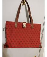 Dooney & Bourke Signature Red Canvas Tote Shoulder Bag Purse - $69.78