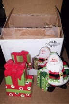 Fitz & Floyd  Holiday Cheer Salt & Pepper Shakers   *NIB* - $12.19