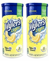 (2) Wyler's Light Lemonade Flavored Sugar Free Drink Mix Packs 6/Can BB ... - $16.82