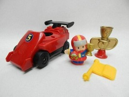Fisher Price Little People LIL MOVERS Race Car REPLACEMENT FIGURE Motori... - $19.79