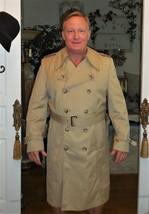 London Fog Maincoat Khaki Tan 40 REG Overcoat Plaid Lining-Overcoat Rain... - $71.27