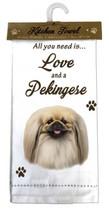 PEKINGESE DOG COTTON KITCHEN DISH TOWEL - $9.99