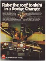 Original 1977 Raise the roof in a Dodge Charger Vintage Print Ad - $7.49