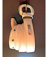 """COLE HAAN Womans Leather Belt Peach / light Pink  SIZE M (41"""" total length) - $19.02"""