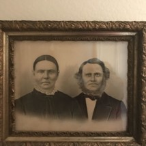 Antique Photo With Instant Relatives Framed in Antique Gold Frame - $65.44