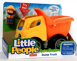 Fisher-Price Little People Dump Truck Discover Cause & Effect Age 1 To 5... - $35.99