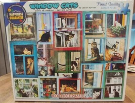 White Mountain Puzzles WINDOW CATS 1000 Piece Jigsaw Puzzle