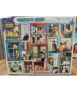 White Mountain Puzzles WINDOW CATS 1000 Piece Jigsaw Puzzle - $12.34