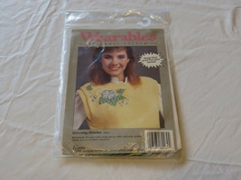 Wearables To Cross stitch Morning Glories 60269 kit RARE NOS new old stock - $10.67
