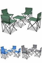 Portable Folding Furniture Set 5 Pcs Camping Picnic Travel Outdoor Table... - $72.75+