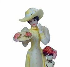 Avon glass dome figurine Mrs Albee porcelain collectible gift decor Hat ... - $62.84