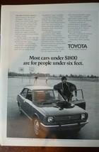1971 Toyota Corolla Ad - People Under Six Feet MAN CAVE ART  - $6.80