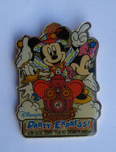 Disney LE Pin Mickey Mouse Donald Minnie Party Express Train 2001 Retired #3705 - $15.87
