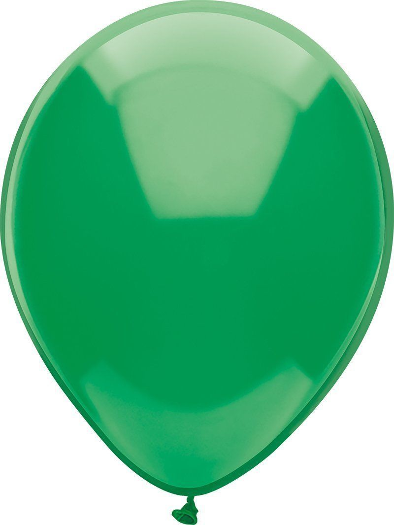"24 Latex Balloons 12"" When Inflated Solid Colors - Forest Green"