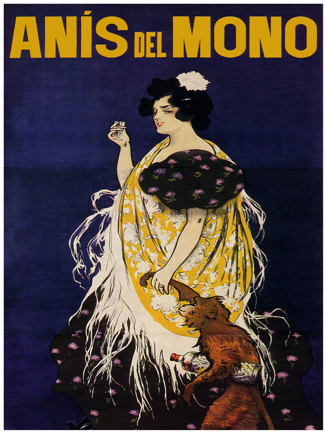 471.Anis del Mono Nouveau Art Decor POSTER Ad. Graphics to decorate home office.