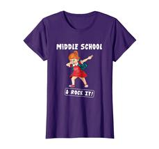 Brother Shirts - Girl Dabbing First Day Of Middle School And Rock It! Shirt Wowe image 5