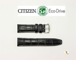 Citizen Eco-Drive 4-S060834 22mm Black Leather Watch Band Strap AT0810-12E - $74.95
