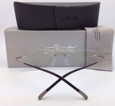 New SILHOUETTE Rimless Eyeglasses MOSAIC 5471 20 6051 55-19 145 23kt Gol... - $499.95