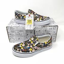 New Vans Peanuts The Gang Black Skateboard Slip On Canvas Shoes Kids 13 - $64.30