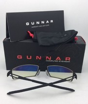 New GUNNAR Computer Glasses ATTACHE 50-19 140 Onyx Black Frame w/ Amber Yellow