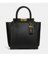 Coach troupe tote 16 Leather Crossbody Satchel ~NWT~ Black 79401 - $292.05