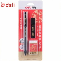 Deli® Pencil 1P Thick Head Mechanical Knock Pencil Set2B For Students Ex... - $6.19