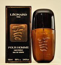 Leonard Pour Homme Eau de Toilette Edt 100ml 3.4 Fl. Oz. Spray Vintage Old 1980 - $350.00