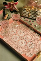 Artist's Grand Style Tray Mats Pineapple Oval Doilies Coasters Crochet Patterns - $9.99