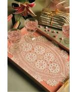 4X Artist's Tray Mat Doily Coasters Blue Table Top Crochet Hair Ornament... - $6.99