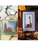 Cross Stitch Victoria & Pigeon Point Lighthouse Sampler Easter Bunnies P... - $9.99
