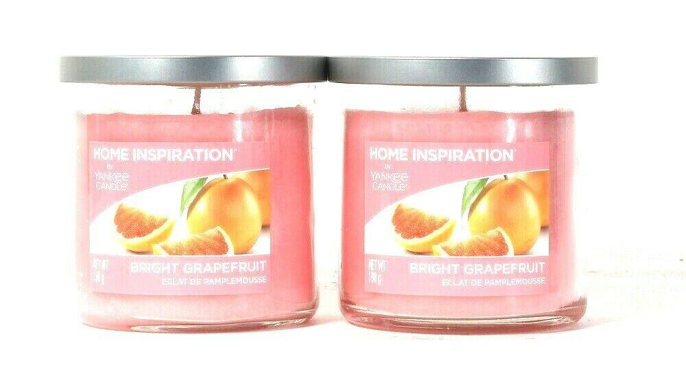 Primary image for 2 Count Home Inspiration By Yankee Candle 198g Bright Grapefruit 1 Wick Candle