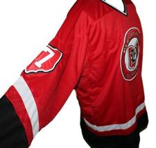 Any Name Number Cleveland Barons Custom Retro Hockey Jersey New Red Any Size image 4