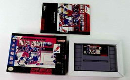 SNES NHLPA Hockey '93 w/Box & Manual (Super Nintendo, 1992) Tested - $7.95