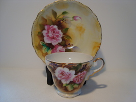 Sterling China Hand painted demitasse cup & saucer. Japan. - $15.00