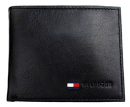 Tommy Hilfiger Men's Premium Leather Id Credit Card Coin Wallet Black 31Tl25X020 image 5