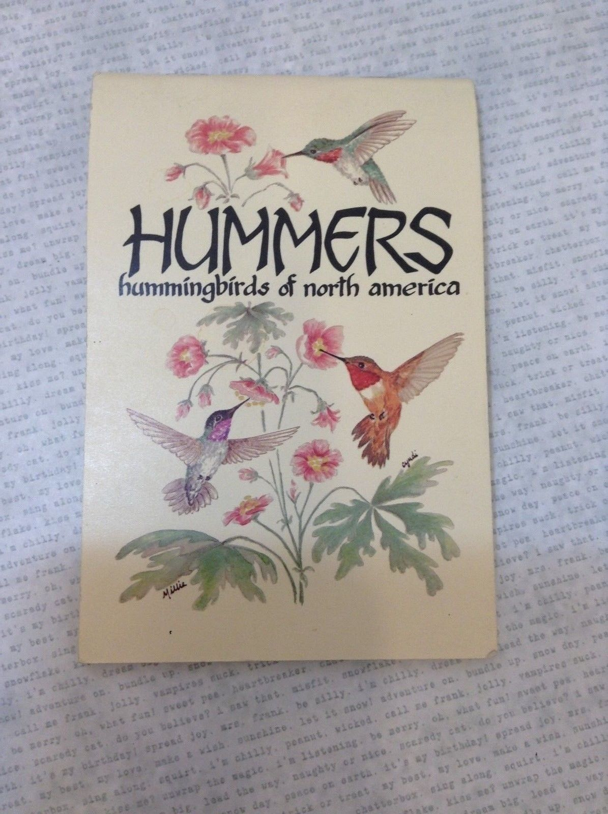 Hummingbirds of North America by Millie Miller & Cyndi Nelson Antique Book