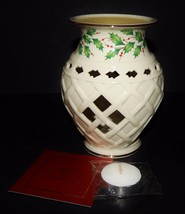 Lenox Christmas Porcelain Holiday Fragrance Wax Warmer Dimension Collect... - $34.64