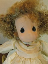 """Precious Moments collectible Doll """"LINDSEY """" children  14"""" BLONDE CURLY ... - $31.68"""