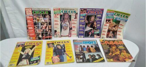Vtg Heavy Metal Magazine Lot 8 Circus Creem 1982 1983 Van Halen Led Zeppelin