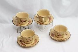 Franciscan Rosette 4 Cups and 4 Saucers - $31.85