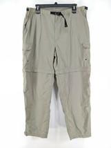 REI Convertible Pants Mens Sz 2X Tan Belted Zip Off Legs (c)  - $25.99