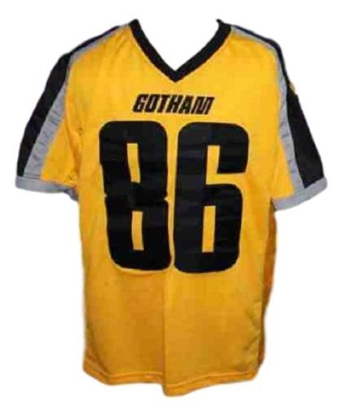 Hines Ward #86 Gotham Rogues The Dark Knight Men Football Jersey Yellow Any Size